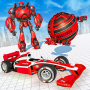 icon Flying Red Ball Car Robot