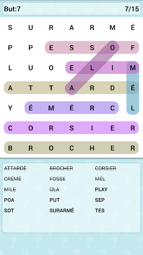 Word Search Games in French