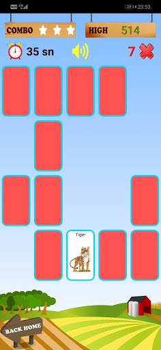 CARD MATCHING GAME : match objects, get to know
