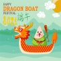 icon Happy Dragon Boat Festival 端午节快乐 2021