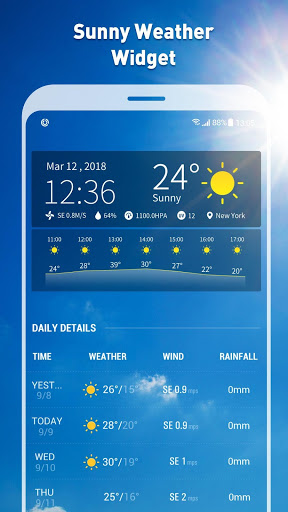 7- day weather forecast and daily temperature