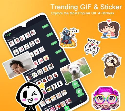 Kika Emoji keyboard+Emoticon,gif,Sticker,wallpaper