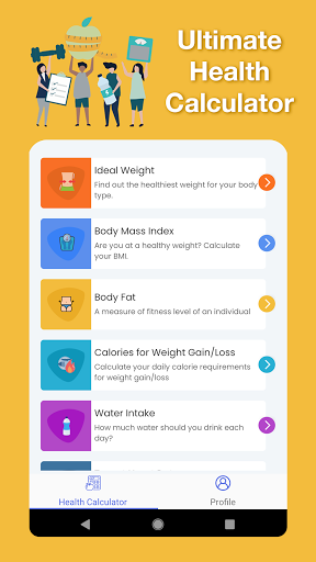 Health Calculator - BMI, Heart Rate, Water & More