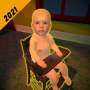 icon Scary Baby In Yellow 3D : Horror Granny Baby Games