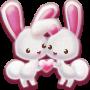 icon Love Rabbit Theme - Kawaii Bunny Couple