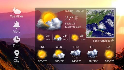 Steampunk Style Weather Widget