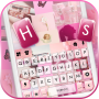 icon Pink Collage Keyboard Background