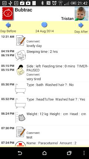 Bubtrac - Baby Tracker Log Diary