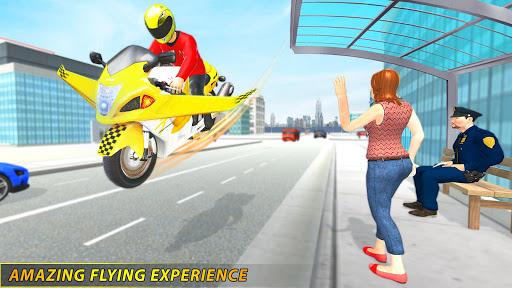 Futuristic Flying Bike Taxi Simulator Driver