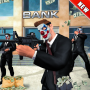 icon NY City Bank Robbery Gangster Police Battle