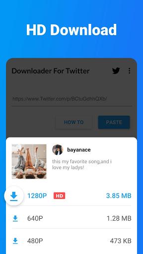 Downloader for Twitter - Download Tweet Video, GIF