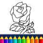 icon Valentines love coloring book