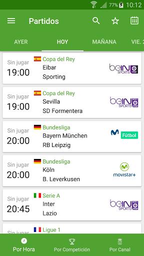 Soccer TV results