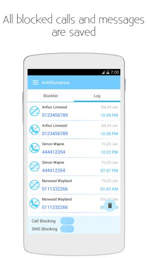 Anti Nuisance-Call&SMS Blocker
