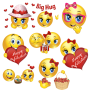 icon Romantic stickers for whatsapp and facebook