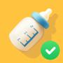 icon Baby Breastfeeding Tracker. Newborn Diary