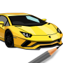 icon Learn To Draw Cars