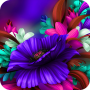 icon Flower Theme Purple Bloom