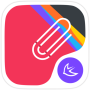 icon Colorful point Line theme