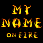icon 3D My Name on Fire five Wallpaper