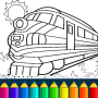 icon Train drawing game for kids