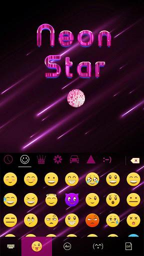 Neon Star Kika Keyboard Theme