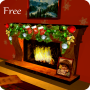 icon 3D Christmas Fireplace HD