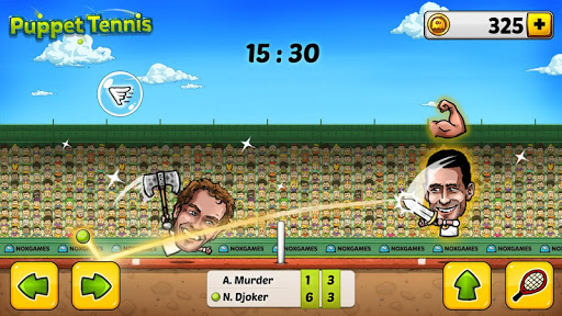 Puppet Tennis-Forehand topspin
