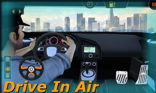 Futuristic Police Flying Car