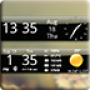 icon Smoked Glass Weather Clock