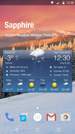 Free Weather Forecast & Clock Widget